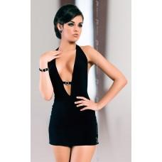 Платье черное эластичное