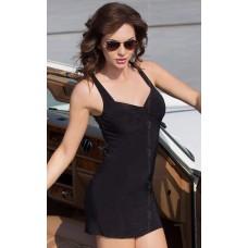 Черное мини-платье с открытой спиной