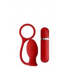 Вибровтулка анальная 7,5 см красная MENZSTUFF ASS CORK SMALL RED