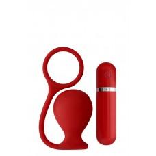 Вибровтулка анальная 7,5 см красная MENZSTUFF ASS CORK WIDE RED