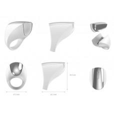 Эрекционное кольцо с вибрацией перезаряжаемое, белое