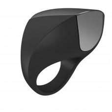 Эрекционное кольцо с вибрацией перезаряжаемое, черное