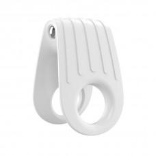 Эрекционное кольцо с вибрацией OVO B12 белое