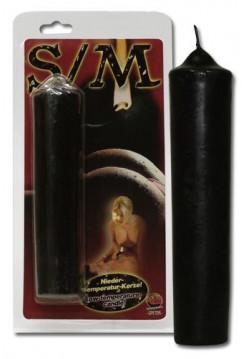 Свеча для сексуальных игр низкотемпературная, черная