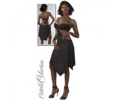 Платье черное, открытая спина