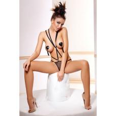 Эротическое боди с открытой грудью Inez