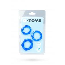 Эрекционные кольца синие 3 шт.