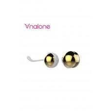Металлические вагинальные шарики Yany, синие+золотистые