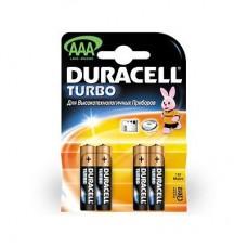 Батарейки мизинчиковые AAA LR03 Duracell Turbo, 4 шт.