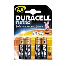Батарейки пальчиковые AA LR6 Duracell Turbo, 4 шт.
