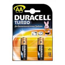 Батарейки пальчиковые AA LR6 Duracell Turbo, 2 шт.