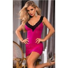 Розовое интимное платье