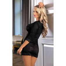 Черное кружевное интимное платье