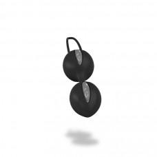 Smartballs Duo вагинальные шарики черно-серые