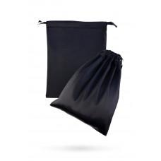 Атласный мешочек для хранения секс-игрушек, черный, 2 шт.