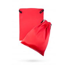 Атласный мешочек для хранения секс-игрушек, красный, 2 шт.
