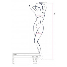 Эротический костюм-сетка открытая грудь Passion Erotic Line, красный