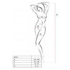 Эротический кэтсьют с открытой грудью и длинными рукавами Passion Erotic Line, красный