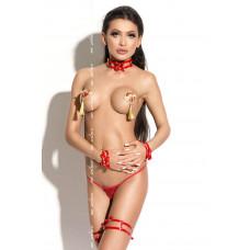 Чокер красный Queen Of Hearts Bonita