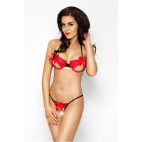 Эротический комплект женского белья Coctail Bikini Passion Erotic Line, красный