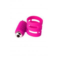 Кольцо для члена с вибрацией, розовое