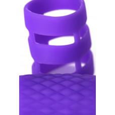 Кольцо для члена с вибрацией, фиолетовое