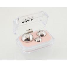 Набор вагинальных шариков: 3 шт, металлические d=30мм, 25мм, 20 мм