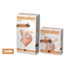 Презервативы Masculan Ultra 3, 10 шт. Кольца и пупырышки с анестетиком (Long Pleasure)
