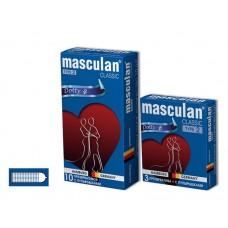 Презервативы Masculan Classic 2, 3 шт. С пупырышками (Dotty)
